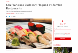 San Francisco Suddenly Plagued by Zombie Restaurants