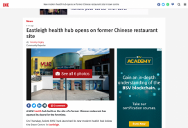 Eastleigh health hub opens on former Chinese restaurant site