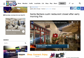 Santa Barbara sushi restaurant closed after early morning fire