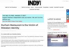 Durham Restaurant Is the Victim of Mistaken Identity