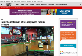 Louisville restaurant offers employees vaccine incentive