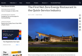 The First Net Zero Energy Restaurant in the Quick-Service Industry