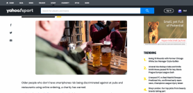 COVID-19: Pub and restaurant apps risk discriminating against older people without smartphones, says charity