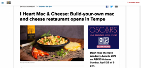I Heart Mac & Cheese: Build-your-own mac and cheese restaurant opens in Tempe