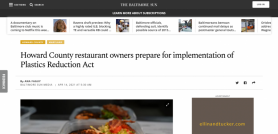 Howard County restaurant owners prepare for implementation of Plastics Reduction Act