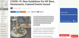 COVID-19: New Guidelines For NY Bars, Restaurants, Catered Events Issued