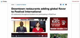 Downtown restaurants adding global flavor to Festival International
