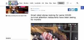 Small retail stores looking for same COVID survival attention restaurants have been seeing for months