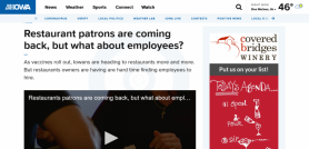 Restaurant patrons are coming back, but what about employees?