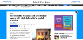 Wyandotte Restaurant and Retail week will highlight city's social district
