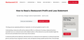 How to Read a Restaurant Profit and Loss Statement