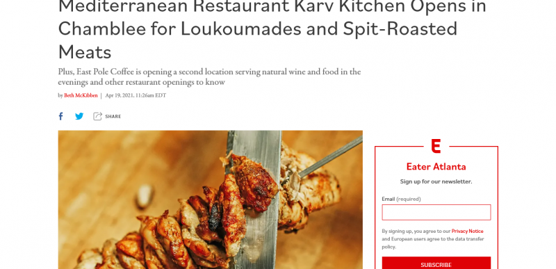 Mediterranean Restaurant Karv Kitchen Opens in Chamblee for Loukoumades and Spit-Roasted Meats