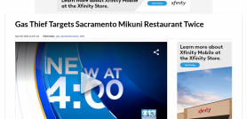 Gas Thief Targets Sacramento Mikuni Restaurant Twice