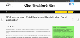 SBA announces official Restaurant Revitalization Fund application