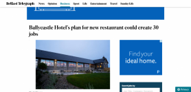Ballycastle Hotel's plan for new restaurant could create 30 jobs