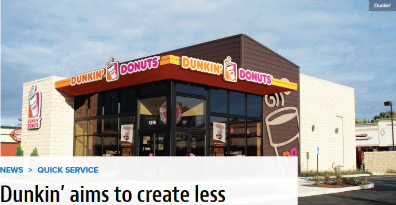 Dunkin' aims to create less waste with composting and food donation programs
