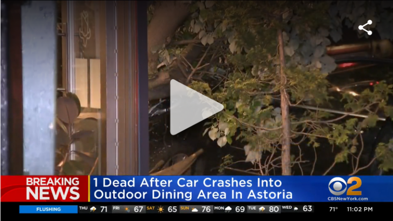 1 Killed, Several Injured After Vehicle Crashes Into Restaurant's Outdoor Dining Area In Queens