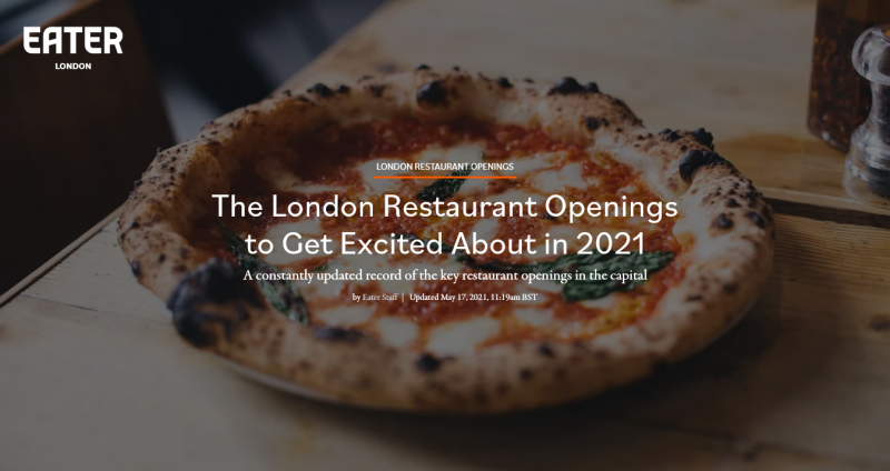 The London Restaurant Openings to Get Excited About in 2021
