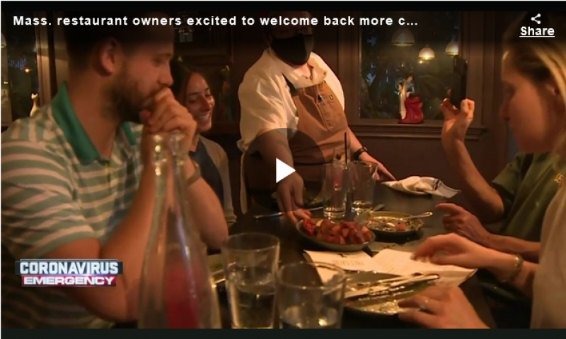 Mass. restaurant owners excited to welcome back more customers once restrictions lift