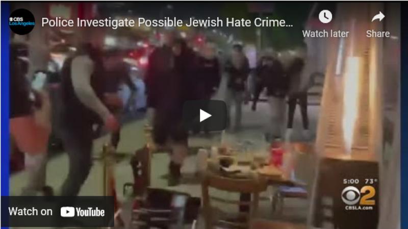 Pro-Palestinian mob reportedly attacks Jewish patrons at LA restaurant