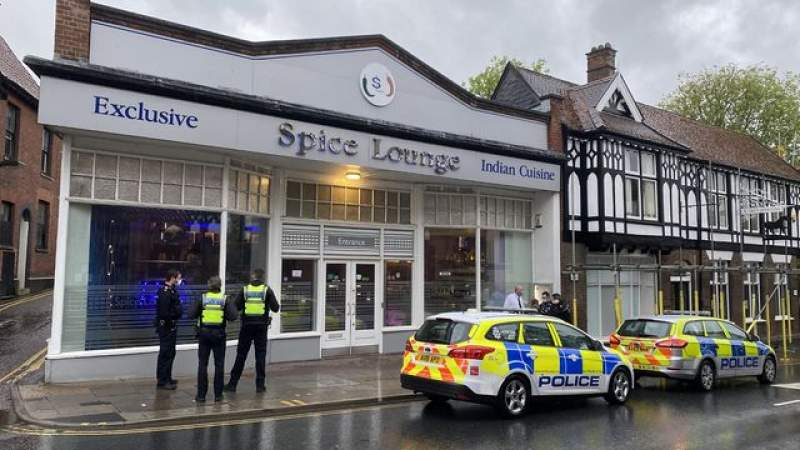 Large police presence at Norwich Indian restaurant