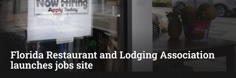 Florida Restaurant and Lodging Association launches jobs site